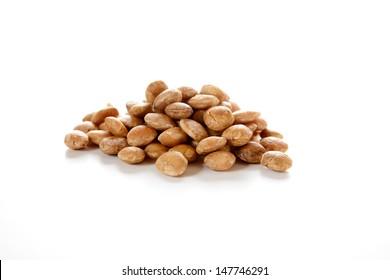 Roasted sacha inchi seeds, good source of plant based omega 3 fatty acids. Plukenetia volubilis.