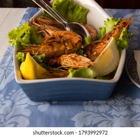 Crevettes rôties prêtes à manger