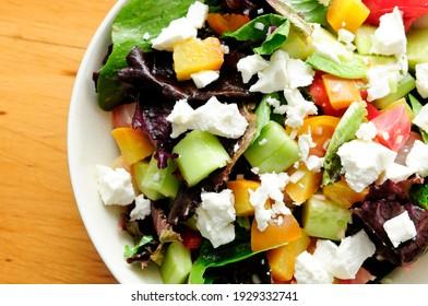 roasted sugar beet salad with heirloom tomato and feta