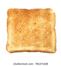 Roasted toast bread isolated on white background
