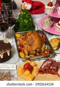 Roasted Turkey Christmas dinner, thanksgiving dinner