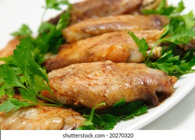 roasted turkey wings with parsley