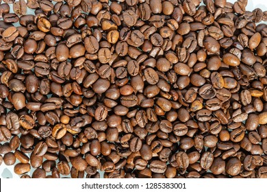 roastet Coffeebeans form above