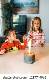 Roasting S'mores Indoors