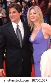 Rob Lowe and his wife at the SAG Awards, LA 3/11/2001