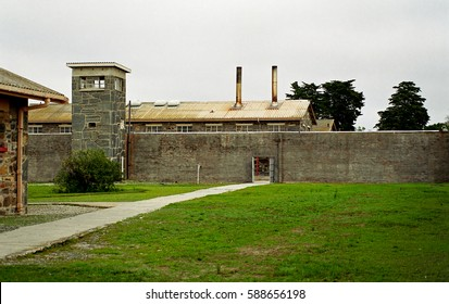 ROBBEN ISLAND, SOUTH AFRICA - JULY 8: Maximum Security Prison on 8 July 2000 at Robben Island. Nelson Mandela spent more than a ecade in this prison.
