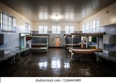 Robben Island, South Africa - October 2015. Insides of  maximum security prison for political inmates. Nelson Mandela spent here more than a decade imprisoned
