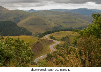 Robber's Pass outside the town of Pilgrim's Rest in Mpumalanga province South Africa image with copy space in landscape format