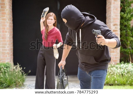 Robber Thief Running Away Quickly Victim After Stock Photo Edit Now