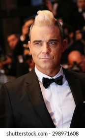 Robbie Williams attends the premiere of 'The Sea Of Trees' during the 68th annual Cannes Film Festival on May 16, 2015 in Cannes, France.