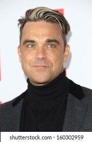 Robbie Williams at The Q Awards 2013 held at Grosvenor House - Arrivals, London. 21/10/2013