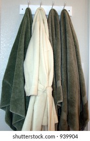 robe and towels