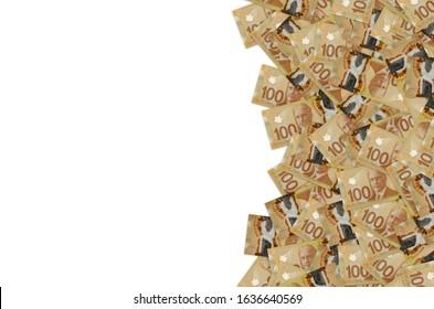 Robert Borden Portrait from Canada 100 Dollars 2011 Polymer Banknote pattern