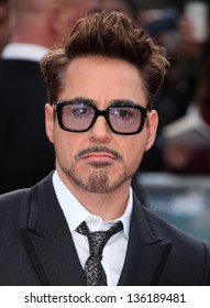 Robert Downey Jr arriving for the Iron Man 3 Premiere, Odeon Leicester Square, London. 18/04/2013 Picture by: Alexandra Glen