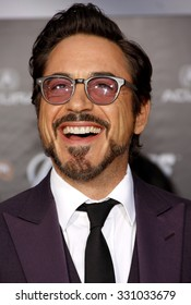 """Robert Downey Jr. at the Los Angeles premiere of """"The Avengers"""" held at the El Capitan Theater in Hollywood, USA on April 11, 2012."""