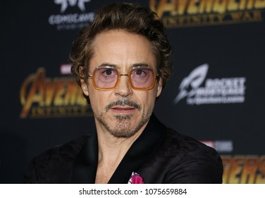 Robert Downey Jr. at the premiere of Disney and Marvel's 'Avengers: Infinity War' held at the El Capitan Theatre in Hollywood, USA on April, 23, 2018.