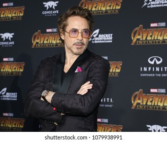 Robert Downey Jr. at the premiere of Disney and Marvel's 'Avengers: Infinity War' held at the El Capitan Theatre in Hollywood, USA on April 23, 2018.