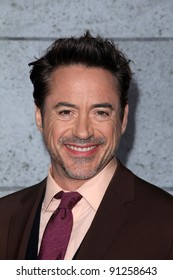 """Robert Downey Jr. at the """"Sherlock Holmes: A Game Of Shadows"""" Los Angeles Premiere, Village Theatre, Westwood, CA 12-06-11"""