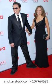 Robert Downey Jr. and Susan Downey  at the 36th AFI Lifetime Achievement Award Tribute To Warren Beatty. Kodak Theatre, Hollywood, CA. 06-12-08