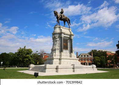 Robert E. Lee Monument on Monument Avenue in Richmond, Virginia.