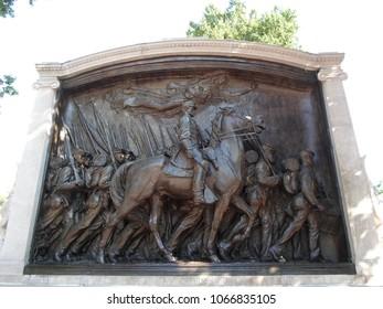 Robert Gould Shaw Memorial, Beacon Street, Boston, Massachusetts, USA
