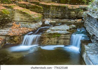 Robert H Treman State Park Fall Foliage & Waterfalls