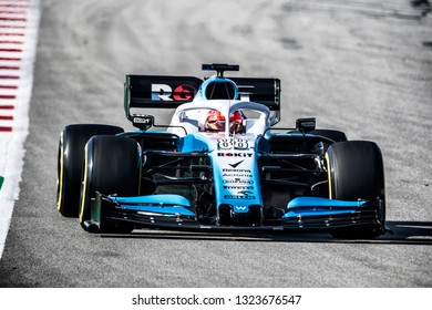 Robert Kubica (Poland) in the ROKiT Williams Racing FW42 2019 F1 car during the F1 winter testing in February at Circuit de Barcelona-Catalunya