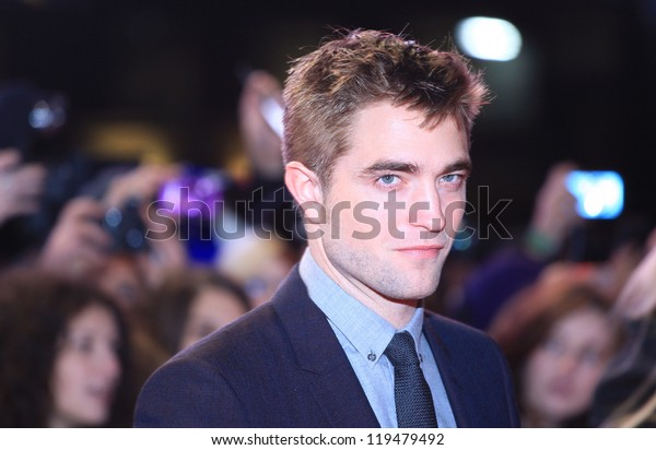 """Robert Pattinson arriving for the """"The Twilight Saga: Breaking Dawn Part 2"""" premiere at the Odeon Leicester Square, London. 14/11/2012 Picture by: Henry Harris"""