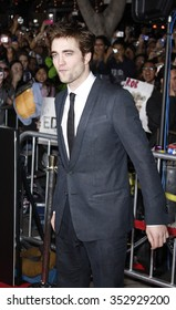 """Robert Pattinson at the Los Angeles Premiere of """"The Twilight Saga: New Moon"""" held at the Mann Village Theater in Westwood, California, United States on November 16, 2009."""