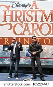 Robert Zemeckis and Jim Carrey at the 'Disney's A Christmas Carol' Train Tour Kick Off. Union Station, Los Angeles, CA. 05-21-09