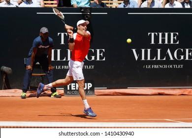Roberto Bautista Agut (ESP) during the Open Parc Auvergne-Rhone-Alpes Lyon 2019, ATP 250 Tennis tournament on May 22, 2019 at Parc de la Tete d'Or in Lyon, France