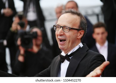 Roberto Benigni attends the screening of 'Happy As Lazzaro (Lazzaro Felice)' during the 71st annual Cannes Film Festival at Palais des Festivals on May 13, 2018 in Cannes, France.
