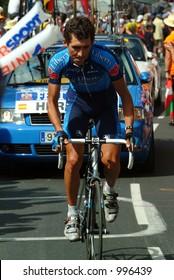 Roberto Heras on the  Alpe D'Huez Time Trial Tour de France 2004