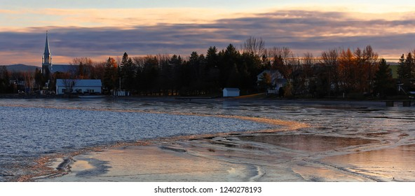 Roberval from lac Saint Jean at Dusk