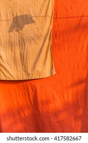 Robes  of  Buddhist  monks drying outdoor
