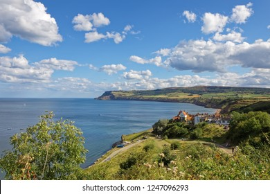 ROBIN HOODS BAY, NORTH YORKSHIRE/UK - AUGUST 22 : View of Robin Hood's Bay North Yorkshire on August 22, 2010. Unidentified people