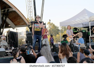 """Robin Wilson of the """"Gin Blossoms"""" performs on day 2 of the """"2017 Temecula Valley Wine and Balloon Festival"""" on June 3, 2017 at the Lake Skinner Recreation Area in Temecula, CA."""