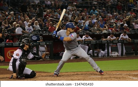 Robinson Chirinos catcher for the Texas Rangers at Chase Field in Phoenix,AZ USA July,30,2018.