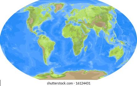 Robinson world map americas centered stock illustration 16124419 robinson world map europe centered gumiabroncs Choice Image