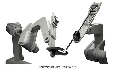 Robot. 3D. Robotic Arm