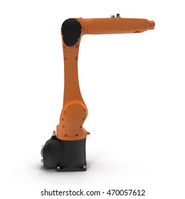 Robot arm for industry isolated on white 3D Illustration