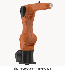 Robot Arm on White Background