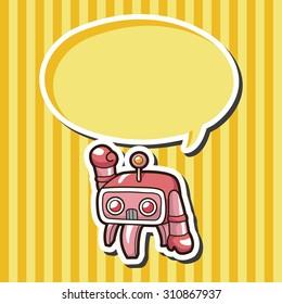 robot, cartoon speech icon