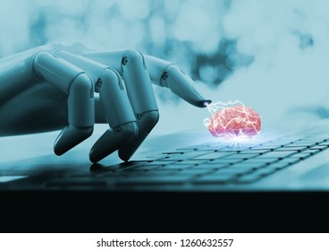 Robot computer concept cpu brain ai technology and Ideas.
