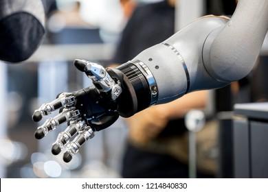 Robot hand close up view