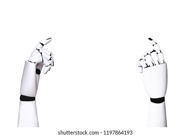Robot hand Industry and robotic concept technology 4.0 on white background