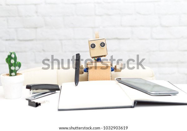 Robot with hands. Artificial Intelligence
