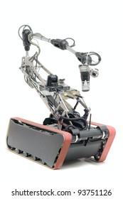 robot sapper Isolated over white