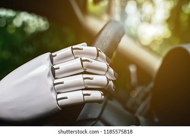 Robot smart car driving system automatic future robot arm control.