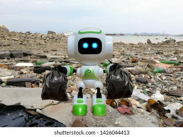 Robot technology to collect black garbage bag instead of humans